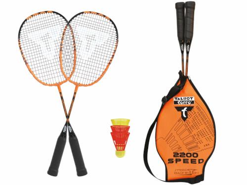 Talbot-Torro - Badminton Set SPEED 2200 im 3/4 Bag black/orange,