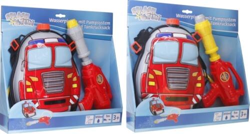 Splash & Fun Wasserpistole mit Tankrucksack, sortiert