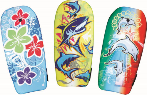 Splash & Fun Bodyboard Waves, 3-fach sortiert, Länge 102 cm