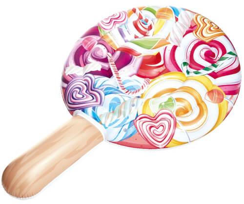 Floater Lollipop Candy World, aufgeblasen ca. 122x190 cm, unaufgeblasen ca. 133x200 cm, Form eines Lollies mit Stiel