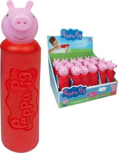 Happy People 16280 PEPPA PIG FOAM SHOOTER Wasserspritze, ca. 19 cm,