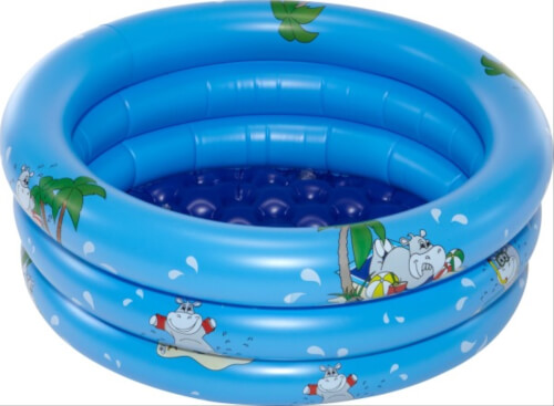 friedola Splash & Fun Baby-Pool Nilo # 70 cm aufblasbarem Boden