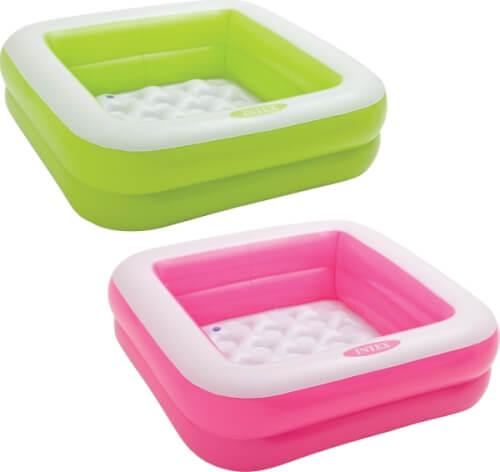 Intex BabyPool ''Play Box'', 2 farbig sort., Wasserbedarf ca. 57 l, aufblasbarer Boden, 1-3 Jahre, 85x85x23cm