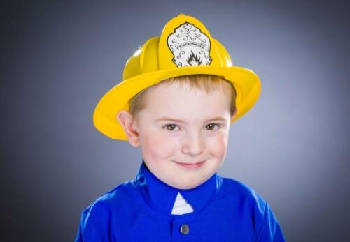 Feuerwehr-Helm gelb, Groesse variabel von 47 cm - 54 cm