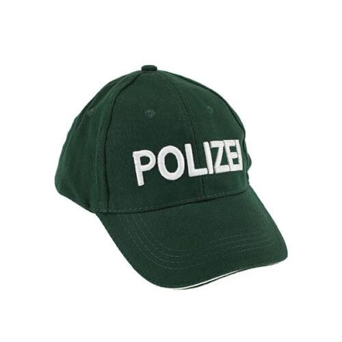 TOITOYS POLICE Polizeikappe (DE) 'Polizei' -grün