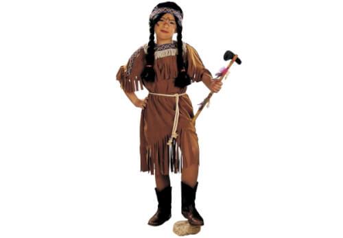 Indianerin: Kleid und Kordel braun 116