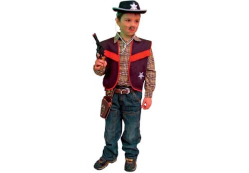 Cowboy-Weste schwarz 116