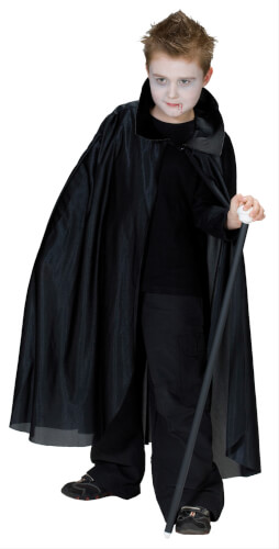 Kostüm Cape lang mit Kragen Gr.152