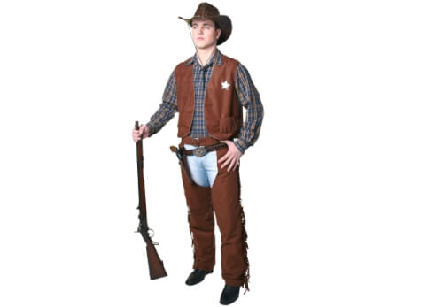 Cowboy-Weste, braun, Damengröße  36/38