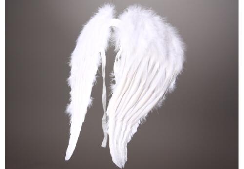 Engelsflügel aus weißen Federn, ca. 45 cm