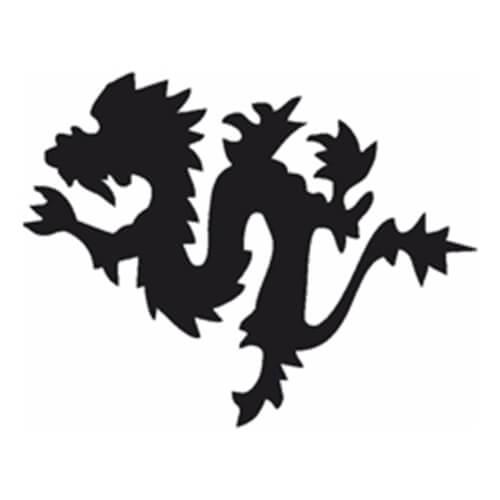 Selbstklebe Schablone - Drache