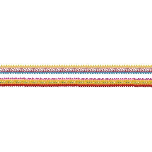 4 Girlanden mit gefärbten Rändern 8 x 200 cm