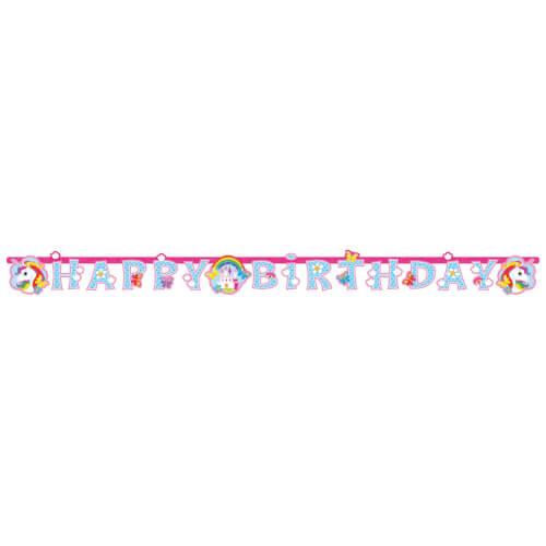 Partykette Einhorn 180 x 15cm