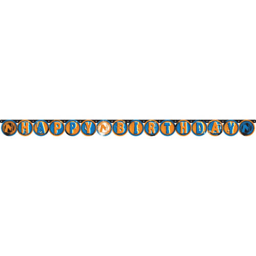 Partykette Happy Birthday Nerf 204 x 13 cm