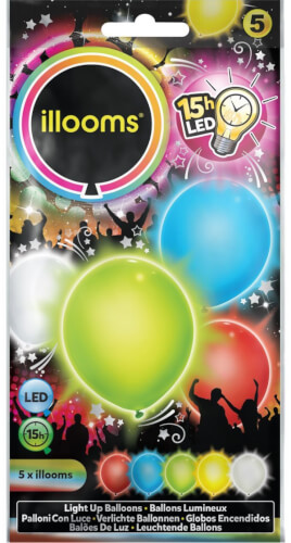 illooms LED Ballons Color Mix 5er Pack