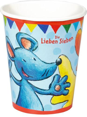 Die Spiegelburg 13255 Die Lieben Sieben - Partybecher aus Pappe (8 St.)
