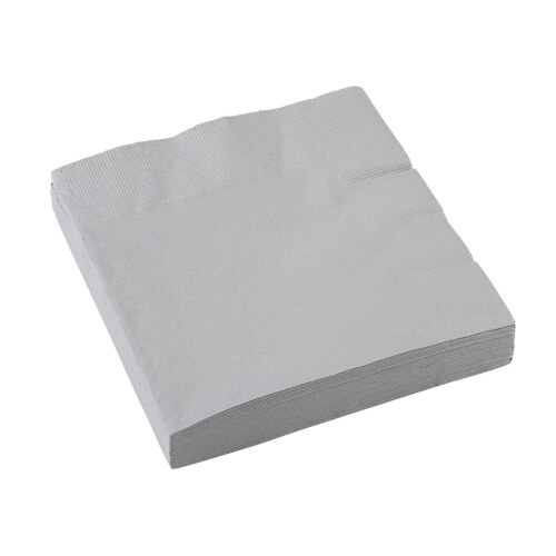 20 Servietten  silber 33 x 33 cm