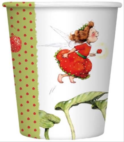 Dahle, Stefanie: Erdbeerinchen Erdbeerfee  Pappbecher (8 Expl.) (nur in Partybo