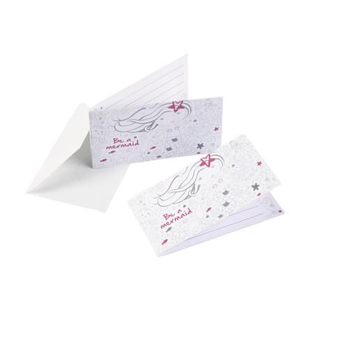 Amscan 8 Einladungskarten ''Be a Mermaid'' inkl. Umschläge