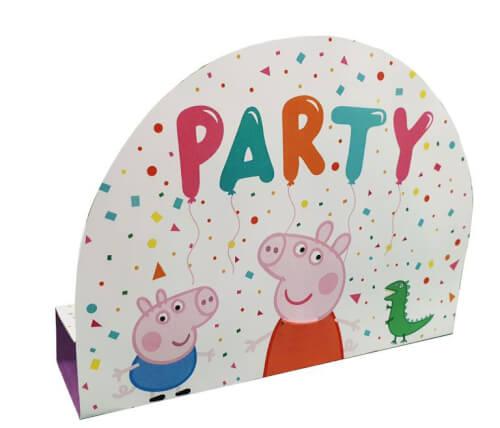 8 Einladungskarten & Umschläge Peppa Pig Papier
