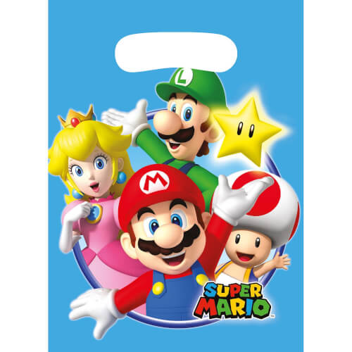 8 Partytüten Super Mario