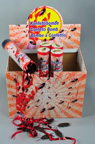 82480 Konfetti Bombe mit 6 Kakerlaken und Konfetti