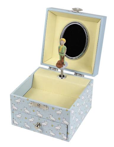 Spieldose Kleiner Prinz© mit Schaf - Leuchtet in der Nacht