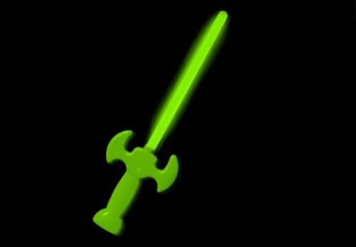 Knicklicht Schwert grün