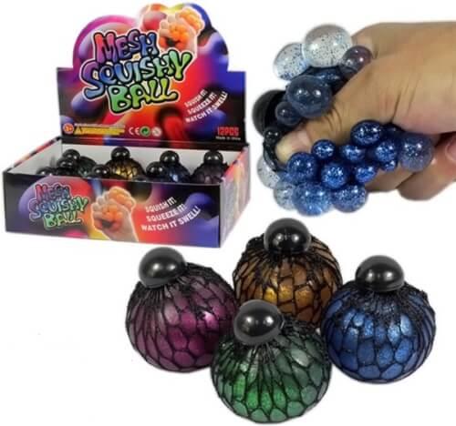 Meshy Ball ''Glitzer'', sortiert
