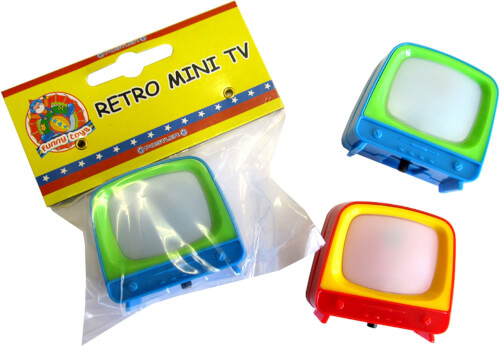 Retro Mini TV Wilde Tiere