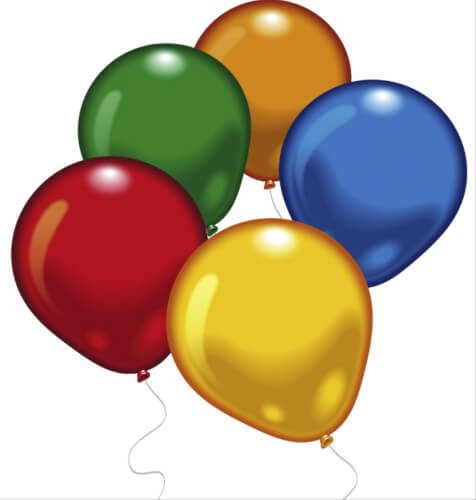 Amscan 500 Latexballons rund, in der Dose