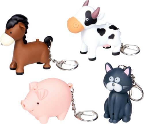 Schlüsselanhänger Bauernhoftiere B.Geschenke, sortiert nicht frei wählbar