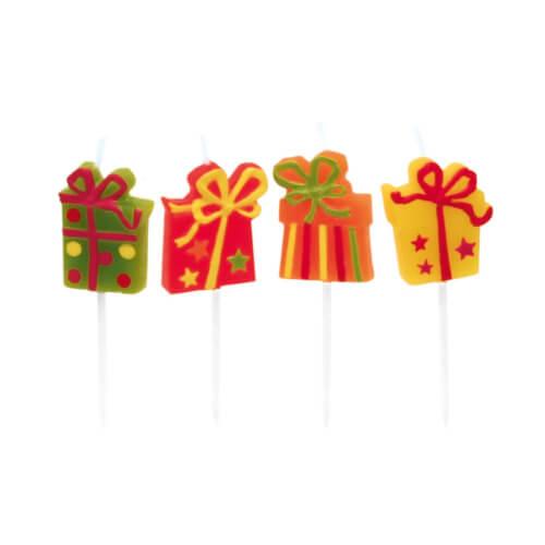 8 Mini-Figurenkerzen Happy Birthday