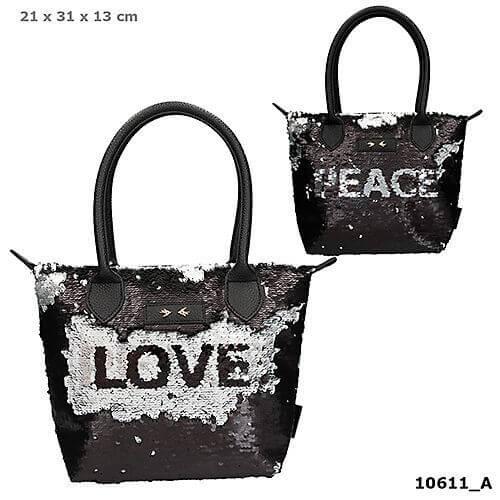 Depesche 10611 Trend LOVE Handtasche Streichpaillette