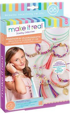 Make it real Armbänder in Velourlederopt
