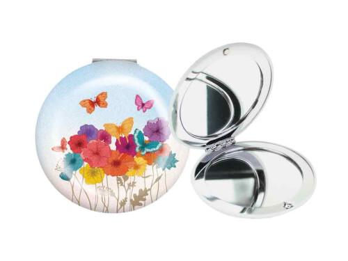 Taschenspiegel Schmetterling hellblau