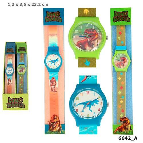 Dino World Silikon-Armbanduhr