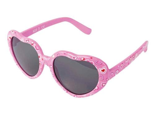 Flex Sonnenbrille Herzform rosa