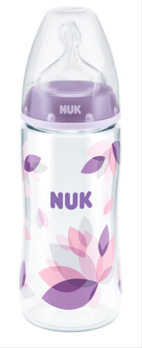 NUK First Choice + Flasche, 300 ml, Gr. 2 M, 6-18 Monate