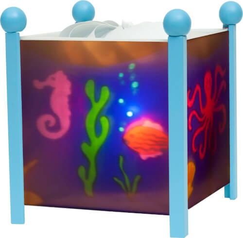 Magische Laterne Meer Blau 12V, Nachtlicht, ca. 16,5x16,5x19 cm, ab 3 Jahren