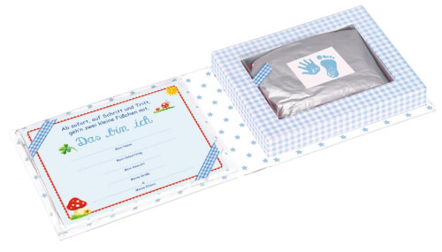 Die Spiegelburg 10773 BabyGlück - Set für Hand- und Fußabdruck, hellblau