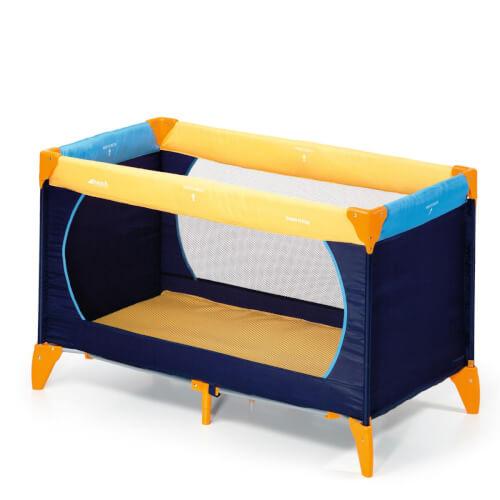 Hauck - Reisebett Dream'n Play, gelb/blau, ca. 120x60 cm