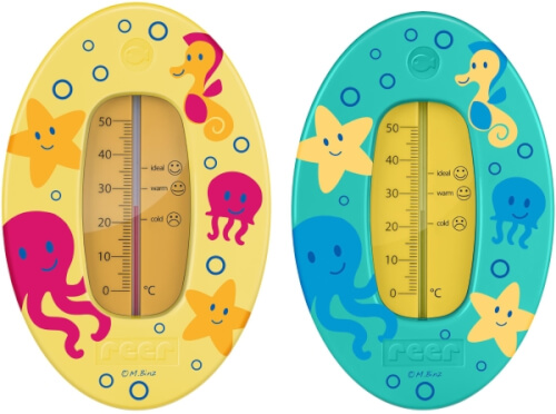 reer 24012 Badethermometer mit Unterwasserwelt-Motiv