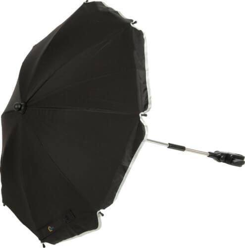 Sonnenschirm schwarz mit ovalem Unterteil