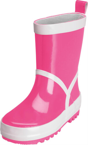 Playshoes Gummistiefel uni, pink, Gr. 22/23