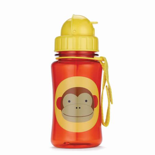 Skip Hop Zoo Straw Bottle Monkey - Trinkflasche mit Trinkhalm, Affe