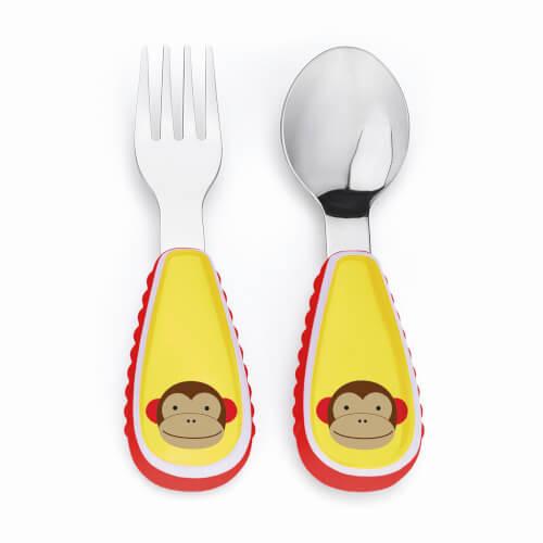 Skip Hop Zoo Utensil Set (fork & spoon) Monkey - Kinderbesteck Affe