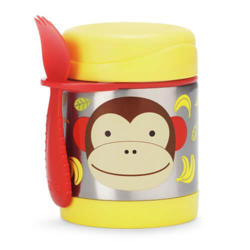 Skip Hop Zoo Insulated Food Jar Monkey - Edelstahl Warmhaltebox Affe
