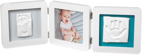 Baby Art My Baby Touch Doppel-Bilderrahmen mit Abdruck, rund, weiß