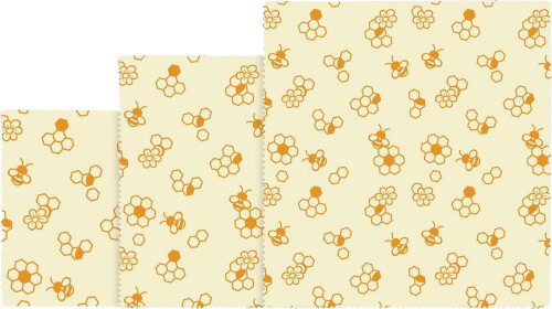 Bienenwachstuch ''Honigwaben'', 3-teilig